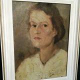 Portretul unei Doamne  aprox 1920, Portrete, Ulei, Altul