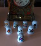 Degetar - Lot 8 degetare vechi din portelan, diferite, de colectie.