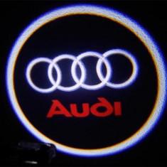 Set 2xProiector LED CREE LOGO sigla AUDI universale auto fata portiere - Proiectoare tuning