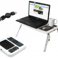Masuta laptop pliabila cu mouse pad, masa laptop cooler reglabila