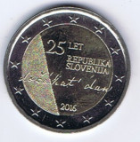 moneda 2 euro comemorativa SLOVENIA 2016, UNC