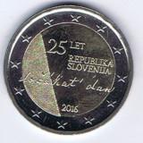 Moneda 2 euro comemorativa SLOVENIA 2016, UNC, Europa, Cupru-Nichel