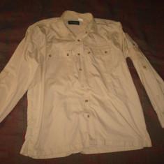 Camasa barbati, tip Safari/Desert/Army/Militar/Armata/colectie/vintage, Marime: XL, Culoare: Bej, Maneca lunga