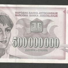 IUGOSLAVIA 500000000 500.000.000 DINARI 1993 [3] P-125 - bancnota europa