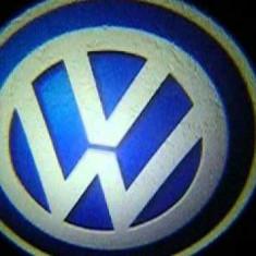 Set 2xProiector LED CREE LOGO sigla VW Volkswagen auto fata portiere - Proiectoare tuning, Universal