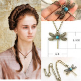 Pandantiv Lantisor Medalion Colier Game of Thrones Dragonfly Necklace