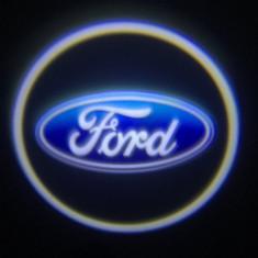Set 2xProiector LED CREE LOGO sigla FORD universale auto fata portiere - Proiectoare tuning