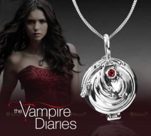 Colier Medalion cu lantisor The Vampire Diaries - Colier Elena Gilbert