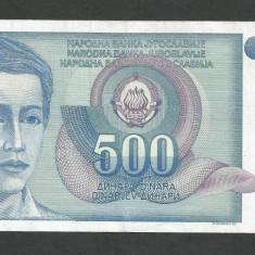 IUGOSLAVIA 500 DINARI 1990 [16] P-106, VF+ - bancnota europa