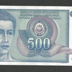 IUGOSLAVIA 500 DINARI 1990 [9] P-106, XF - bancnota europa