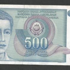 IUGOSLAVIA 500 DINARI 1990 [30] P-106 - bancnota europa