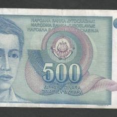 IUGOSLAVIA 500 DINARI 1990 [42] P-106 - bancnota europa
