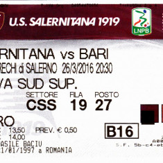 Bilet meci fotbal SALERNITANA - AS BARI 26.03.2016 (Italia)