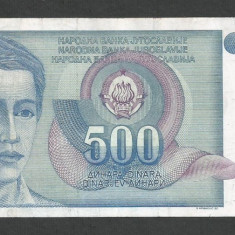 IUGOSLAVIA 500 DINARI 1990 [46] P-106 - bancnota europa