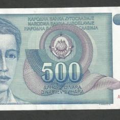 IUGOSLAVIA 500 DINARI 1990 [4] P-106, XF++ - bancnota europa