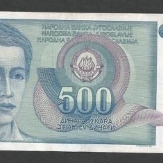 IUGOSLAVIA 500 DINARI 1990 [31] P-106 - bancnota europa