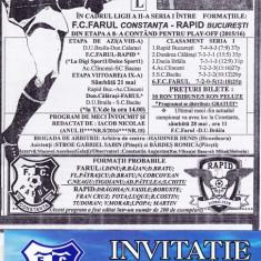 Program meci fotbal+invitatie FARUL CONSTANTA - RAPID BUCURESTI 18.05.2016