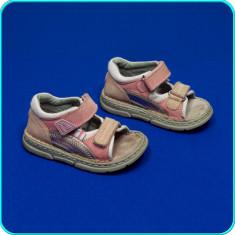 DE FIRMA _ Sandale din piele, de calitate, comode BÄREN SCHUHE _ fetite | nr. 24 - Sandale copii, Culoare: Roz, Fete, Piele naturala