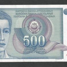 IUGOSLAVIA 500 DINARI 1990 [34] P-106 - bancnota europa
