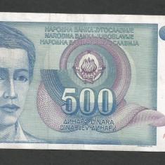 IUGOSLAVIA 500 DINARI 1990 [39] P-106 - bancnota europa