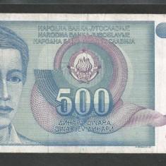 IUGOSLAVIA 500 DINARI 1990 [44] P-106 - bancnota europa