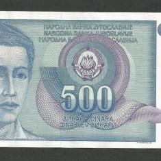 IUGOSLAVIA 500 DINARI 1990 [6] P-106, XF+ - bancnota europa