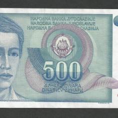 IUGOSLAVIA 500 DINARI 1990 [12] P-106, VF++ - bancnota europa