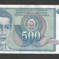 IUGOSLAVIA 500 DINARI 1990 [40] P-106 - bancnota europa