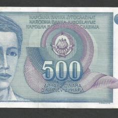 IUGOSLAVIA 500 DINARI 1990 [36] P-106 - bancnota europa