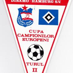 Fanion fotbal DINAMO BUCURESTI - HAMBURG SV 19.10.1983