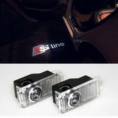 Set proiectoare LOGO Audi S Line dedicate A4 A3 A6 C5 Q7 Q5 A1 A5 A8 Q3 A7 S3 S4 - Proiectoare tuning