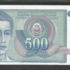 IUGOSLAVIA 500 DINARI 1990 [2] P-106, XF++ - bancnota europa