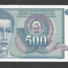 IUGOSLAVIA 500 DINARI 1990 [10] P-106, XF - bancnota europa
