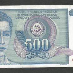 IUGOSLAVIA 500 DINARI 1990 [3] P-106, XF++ - bancnota europa