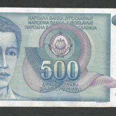 IUGOSLAVIA 500 DINARI 1990 [33] P-106 - bancnota europa