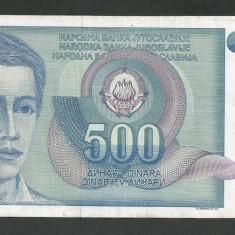 IUGOSLAVIA 500 DINARI 1990 [35] P-106 - bancnota europa