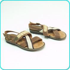 DE FIRMA → Sandale DIN PIELE, aerisite, design deosebit, MELANIA → fete | nr. 32 - Sandale copii Melania, Culoare: Maro, Piele naturala