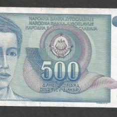 IUGOSLAVIA 500 DINARI 1990 [43] P-106 - bancnota europa