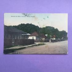 Romania - Baile Vulcana - Strada Regala - Carte Postala Muntenia 1904-1918, Circulata, Fotografie