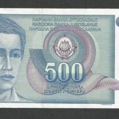 IUGOSLAVIA 500 DINARI 1990 [13] P-106, VF+ - bancnota europa