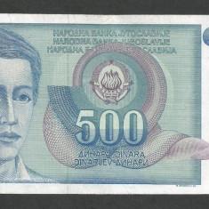 IUGOSLAVIA 500 DINARI 1990 [37] P-106 - bancnota europa