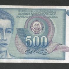 IUGOSLAVIA 500 DINARI 1990 [38] P-106 - bancnota europa