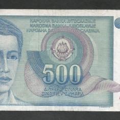 IUGOSLAVIA 500 DINARI 1990 [41] P-106 - bancnota europa