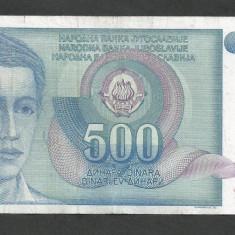 IUGOSLAVIA 500 DINARI 1990 [45] P-106 - bancnota europa