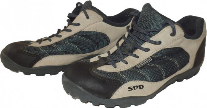 Incaltaminte pantofi ciclism SHIMANO SPD + placute (38.5) cod-347734 foto mare