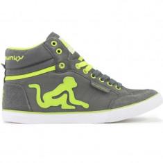 Adidasi Drunknmunky.model Boston Vitaminix C131/Grey/Green - Ghete barbati, Marime: 41, 43, Culoare: Din imagine, Piele sintetica