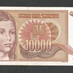 IUGOSLAVIA 10000 10.000 DINARI 1992 [6] P-116a, VF++ - bancnota europa