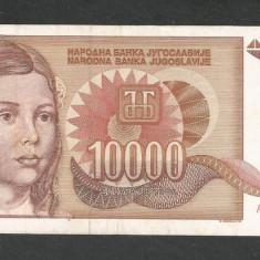 IUGOSLAVIA 10000 10.000 DINARI 1992 [5] P-116a, XF+ - bancnota europa