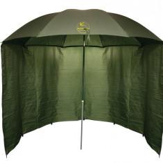 Umbrela Baracuda Shelter U3 (250 x 160cm) cu Parapet Perete Detasabil