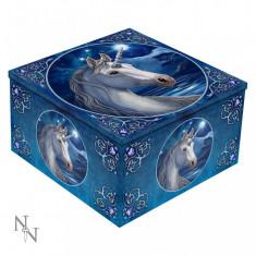 Cutie bijuterii cu oglindă Unicorn Sacru